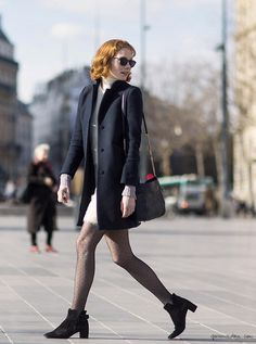 A day with Jessica Joffe, Paris, Fashion Week, street style, booties / Garance Doré