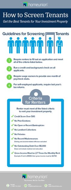 How to Screen Tenants to get the best renters for your investment property. #realestatetips #realestateinvesting #landlords #investors
