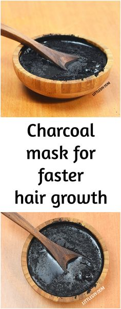 Faster hair growth with charcoal