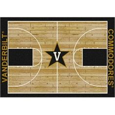 Vanderbilt Commodores Basketball Court Rug