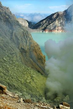 The Ijen volcano in Indonesia, on the island of Java.