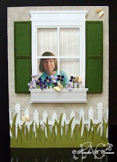 Another use for the Madison window die ... put a real person's picture in it :-)