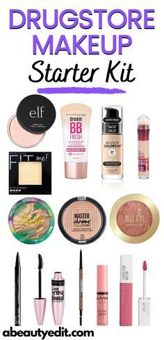 Maybelline Makeup, Drugstore Makeup Dupes, Beauty Dupes, Beauty Products, Mascara, Eyeliner, Simple Everyday Makeup, Makeup Starter Kit, Concealer For Dark Circles