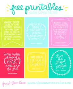 General Women's Meeting and Free Printable Quotes