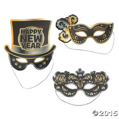 Planning a New Year's Masquerade party? Ring in the New Year with style You can lay them out on your party tables as place holders or as New Year's ...