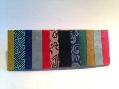 Hanji French Barrette Hair Pin Striped Multicolor by HanjiNaty, $14.00
