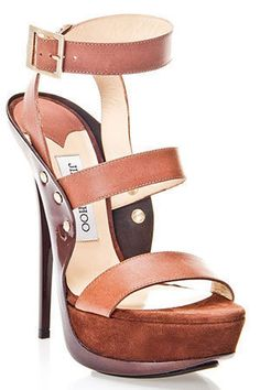 Jimmy Choo Halley Sandals In Brown fashion shoes shoes shoes Fab Shoes, Crazy Shoes, Cute Shoes, Me Too Shoes, Look Fashion, Fashion Shoes, Girl Fashion, Zapatos Shoes, Shoes Heels
