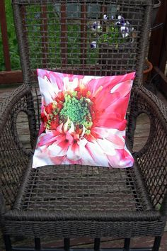 Bright Floral Design Throw Pillow Cover 16x16 by BettyinParis, $20.00