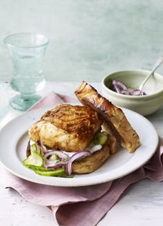 It's a burger but not as you know it! Firm, juicy cod is spiced up for a Friday night fish feast.