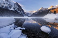 Lake Louise in winter by Victor Liu on 500px