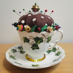 Vintage Tea Cup Pin Cushion