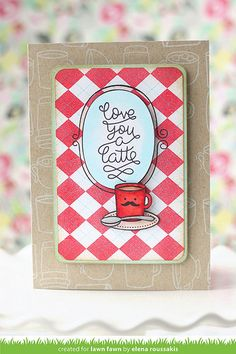 """Fall/Winter 2014 Card, created with Lawn Fawn's """"Love You a Latte"""" set by Elena Roussakis @ http://www.justmeprints.blogspot.com/"""