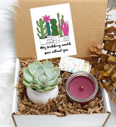 Bridesmaid Proposal Bridesmaid Gift Will You Be My Will You Be My Bridesmaid Gifts, Bridesmaid Gift Boxes, Bridesmaid Proposal, Bridesmaids, Cedarwood Essential Oil, Lemon Essential Oils, Soy Candles, Scented Candles, Holiday Nights