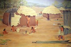 Mound Bottom Mississippian culture settlement by Carlyle Urello Polynesian Girls, Nashville Vacation, Woodland Indians, Indigenous Tribes, Indian Village, Compare And Contrast, Prehistory, North America, Native Americans