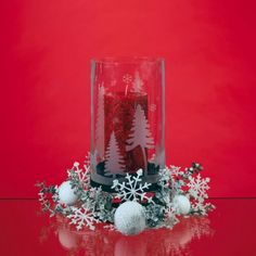 Centerpiece Kit - Snowflake/Etched Vase w/Stand