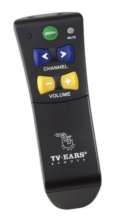 TV Ears 10902 Reg-Remote for Any TV, Black by TV Ears. $29.99. The TV Ears Regi Remote is an easy to use universal remote control that will work with any television, cable or satellite box. Five large color coded buttons power up, change channels, and adjust the volume without the need to toggle between functions. A fully functioning number panel is available when the cover is removed. This product is ideal for those that need an extremely simple easy to use r...
