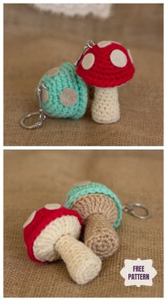 Häkeln Sie Pilz Keychain Amigurumi Free Pattern Häkeln Sie Pilz Keychain Amigurumi Free Pattern Crochet Mushroom Keychain Amigurumi Free Pattern Source by DIYDailyMag Crochet Simple, Crochet Diy, Crochet Food, Crochet Crafts, Crochet Dolls, Crochet Projects, Crochet Case, Diy Projects, Crochet Keychain Pattern