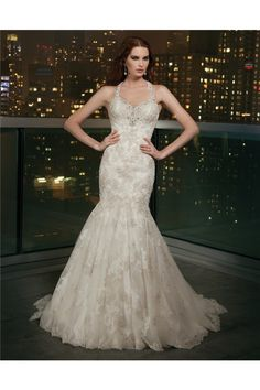 Ed Mermaid Halter Sweetheart Open Back Champagne Lace Crystal Wedding Dress With Color Dresses
