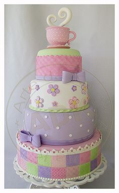 Life is cruel! They won't even let me eat this cake! Baby Cakes, Girly Cakes, Tea Cakes, Cupcake Cakes, Gorgeous Cakes, Pretty Cakes, Amazing Cakes, Bolo Fack, Novelty Cakes