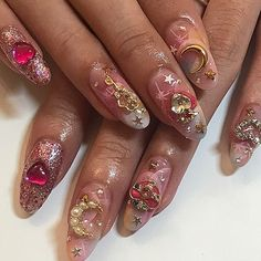 Expand style to your fingernails with nail art designs. Used by fashionable stars, these types of nail designs will add instant glamour to your apparel. Nail Swag, Cute Nails, Pretty Nails, Hair And Nails, My Nails, Kawaii Nails, Nail Polish, Dream Nails, Nagel Gel