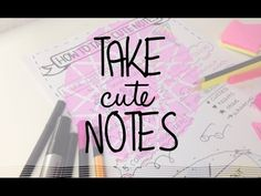 Take cute notes tutorial - visual learning techniques Visual Note Taking, Visual Learning, Learning Techniques, Cute Notes, College, School, Youtube, University, Sweet Notes