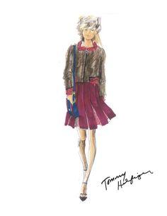 Tommy Hilfiger Fall 2015 Sketch