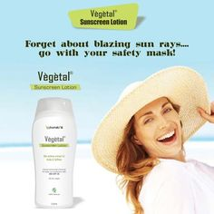 Forget about blazing sun rays …… go with your safety mask Vegetal Sunscreen Lotion! Enriched with the goodness of Bio Active extracts of Amla and Saffron Vegetal Sunscreen Lotion works as a shield against the harmful UV rays. #VegetalPersonalCare.