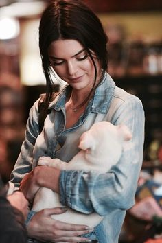 Kendall Jenner and her puppy