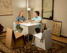 Printable cardboard furniture.