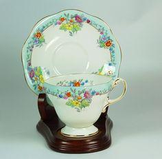 Bone China, Tea Cup and Saucer,Tea Cup and Saucer in Vintage,Tea Cup and Saucer Bone China, Foley Tea Cup and Saucer.