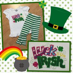 A little St Patty's Day outfit for my daughter