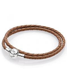 Beautifully styled in brown leather with a sterling silver clasp, this PANDORA fashion jewelry bracelet is 15 inches in length. Leather Charm Bracelets, Metal Bracelets, Pandora Bracelet Charms, Pandora Jewelry, Silver Jewelry, Pandora Leather, Cheap Pandora, Brown Leather, Sterling Silver