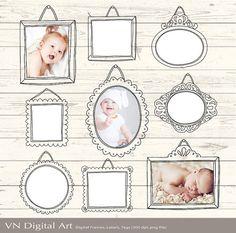 Digital Frame Doodle Photo Frames Labels  Instant by VNdigitalart  https://www.etsy.com/listing/81493382/digital-frame-doodle-photo-frames-labels?ref=shop_home_active_10