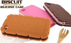 3D Sandwich Biscuit Cookie Silicone Case Skin Cover for iPhone 4 4S 4G 4GS 2012