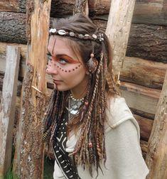 Earthy Brown Felted Dreads Clip In Handspun Dreadlocks Extentions Wool Felt Locks Festival Weft Clip Tribal Pixie Earth Gypsy Hair Feathers