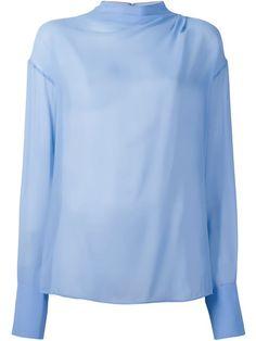 EMILIO PUCCI Semi-Sheer Blouse. #emiliopucci #cloth #blouse