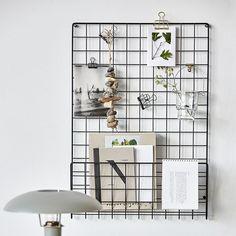 Mesh Noticeboard, Black $90. - RoyalDesign.com