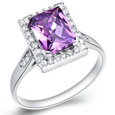 Find More Rings Information about 925 Sterling Silver Ring CZ Zircon 2015 Fashion Romantic Purple Square Crystal Wedding Party Jewelry For Women Ulove J188,High Quality silver ring,China sterling silver rings Suppliers, Cheap ring cz from ULOVE No.2 Fashion Jewelry Store  on Aliexpress.com