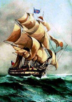 HMS Foudroyant   74-Cañones -Isla Gorriti, el más célebre naufragio |