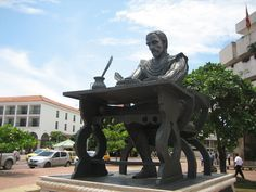 Literary statue in Colombia somewhere. #travel #statues #colombia