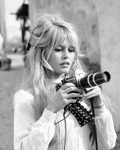 Brigitte Bardot pictured during a break in filming the movie 'Viva Maria' in 1965. Photo by Ralph Crane, The LIFE Picture Collection/Getty Images.