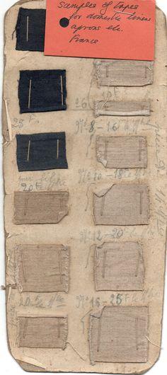 Linen swatch card