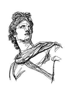 Apollo Greek God Art Print by LaPhilocalist - X-Small Apollo Greek Mythology, Greek Mythology Tattoos, Roman Mythology, Aesthetic Drawing, Aesthetic Art, Apollo Tattoo, Apollo Aesthetic, Greek God Tattoo, Greek Warrior