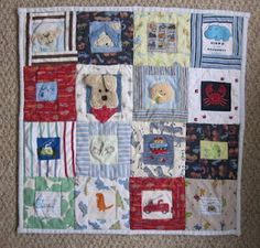 Baby Quilt Made Out of Baby Clothes