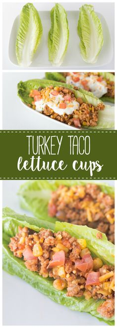 10 Most Misleading Foods That We Imagined Were Being Nutritious! These Turkey Taco Lettuce Wraps Are A Delicious And Low Carb Meal To Start Your Year Off Right Healthy Dinner Recipes, Appetizer Recipes, Low Carb Recipes, Healthy Snacks, Healthy Eating, Cooking Recipes, Appetizers, Bariatric Eating, Bariatric Recipes
