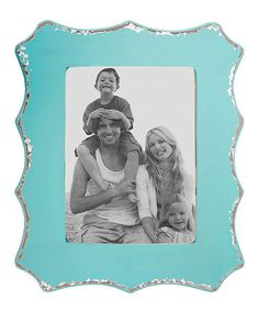 Look what I found on #zulily! Aqua Distressed 11'' x 14'' Picture Frame #zulilyfinds