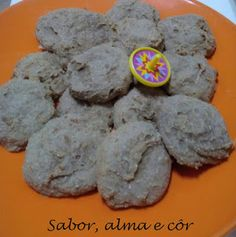 sabor, alma e côr: Cookies de Banana com Arroz Puff e Canela