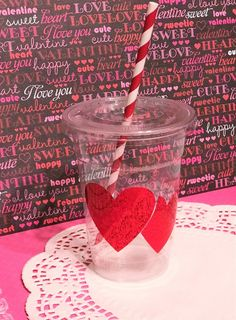 Double Heart Valentine Cups Valentine Drinks, Valentines Day Party, Love Valentines, Heart Party, Cute Cups, Party Needs, Plastic Cups, Party Cups, Summer Parties