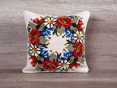 Check out this item in my Etsy shop https://www.etsy.com/listing/271704746/cross-stitch-summer-floral-wreath