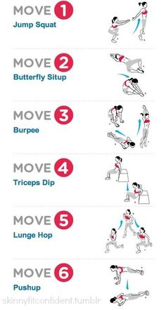 6 KILLER Move For Fat Burning Interval Training Routine. This is a good interval training routine we want to share with you: Perform each exercise for as many reps as you can within 1 minute followed by a 30 sec rest in between,